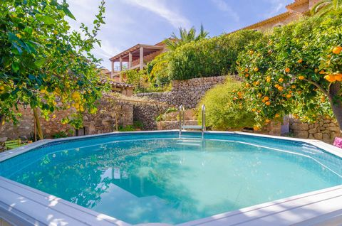 Welcome to this beautiful and authentic Mallorcan stoned house, located at the foot of the mountains in Fornalutx, dating from 1778 and still preserving an antique oil press known as