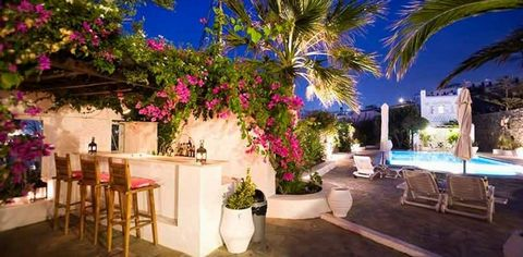 Overlooking the legendary windmills and just a breath away from the bustling cosmopolitan lifestyle of Mykonos, this villa makes the stay a lifetime experience. With its rustic and elegant style at the same time, this dream home will conquer your hea...