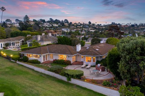Ideally situated directly on the La Jolla Country Club, this single level traditional ranch style home with an entry courtyard and great flow has incredible views over green fairways and manicured golf course landscaping out to the Pacific Ocean. It ...