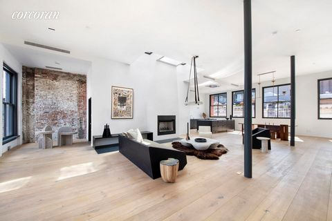 Gut renovated, Sun-Blasted and Spectacular, four-bedroom, three-and-a-half-bathroom penthouse loft, with 4 exposures, epitomizes chic TriBeCa living with outstanding modern design and an extraordinary 3000SF roof deck where views stretch all the way ...