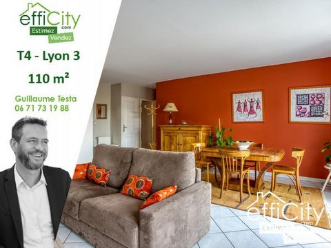 69003 - LYON - ROUGET DE L'ISLE - T4 - 110M2 - 3 BEDROOMS - WEST TERRACE - CROSSING - BOX 32M2 - LAST FLOOR - DEGAGEE VIEW effiCity, the Agency that estimates your property online and Guillaume Testa, offer you this Type 4 property of 110m2 located o...
