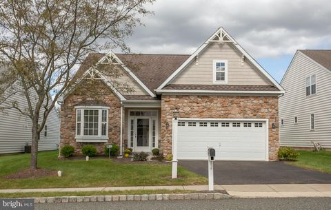 The Meadows of Skippack, an Active Adult Community in desirable Skippack Township, this lovely single home is located on a quiet cul-de-sac. This Brighton Model has an entry foyer with tile floor. Adjacent to the foyer is a spacious Living/Dining Roo...