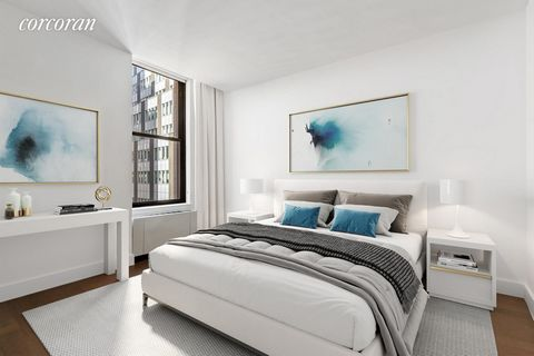 IMMEDIATE OCCUPANCY. Welcome to the Broad Exchange Building, where the timeless grandeur of New York's storied past meets spacious, sophisticated, and modern residences that are ideal for contemporary living. Residence 16H is a quiet, one-bedroom, on...