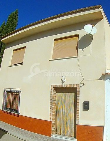 A large semi-detached two storey house for sale in a peaceful spot in the village of Los Menas near to Huercal – Overa . The property has a large terrace to the side offering fabulous views of the valley and also has a garage to the front of the hous...