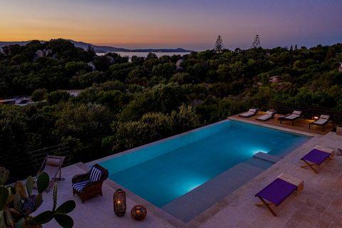 VILLA ALESSANDRA Porto Rotondo Costa SmeraldaLa villa con caratteristiche mediterranee è situata in una posizione dominante con vista mare.La nuova piscina a sfioro è romantica nei tramonti della Sardegna.La villa ha un ampio giardino con rocce grani...