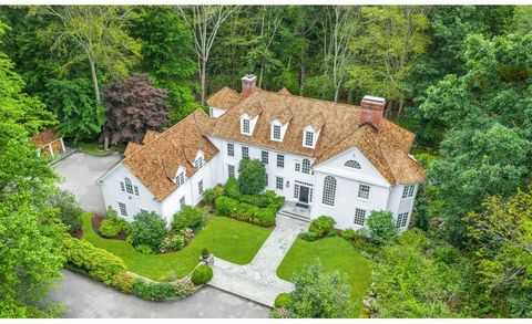 Quintessential Connecticut Country Estate. Magnificent setting at the end of a tranquil, private enclave. This sophisticated retreat was built with Superior Quality and Executed with Stunning Details and Timeless Elegance. Sited beautifully on almost...