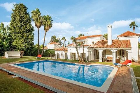 Casa Almenara is a spectacular villa located within the southern side of Sotogrande. This beautifully presented villa is finished to a high standard and offers modern conveniences including English satellite television channels, a DVD player, free Wi...