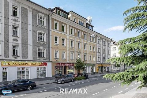 This attractive residential and commercial building is located in the Schallmoos district. This district is located northeast of the historic old town and north of the Kapuzinerberg. Schallmoos is located near the center and is one of the younger dis...