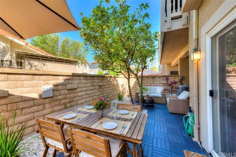 Welcome to the Canyon View Condominiums located in the hill top community of Portola Hills. This nicely upgraded one bedroom with one bathroom property boasts a large private patio, remodeled bathroom, family room fireplace, stainless steel appliance...