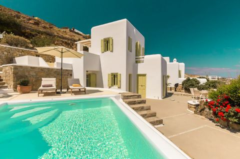The property's traditional and modern decor offers contemporary luxury – four bedrooms on two levels with separate entrances overlooking a private pool over the Mediterranean Sea. The heart of the villa is its expansive terrace facing the sea, with a...