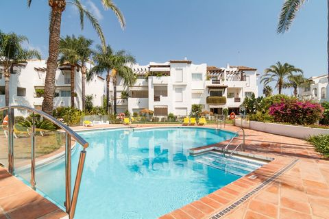 AVAILABLE FOR WINTER RENTAL FROM OCTOBER 2020 UNTIL END OF APRIL 2021. A fantastic ground floor apartment with 2 bedrooms and very well furnished in the quiet urbanization of Costalita between Estepona and San Pedro. It has its own secure, private of...