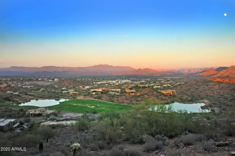 Largest building envelope in Firerock. This premium lot has panoramic views of Matazal Mountain range, Four Peaks, Red Mountain, golf course and Mesa city lights. Lot is located on the highest elevated cut-de-sac in Firerock. Firerock is Fountain Hil...