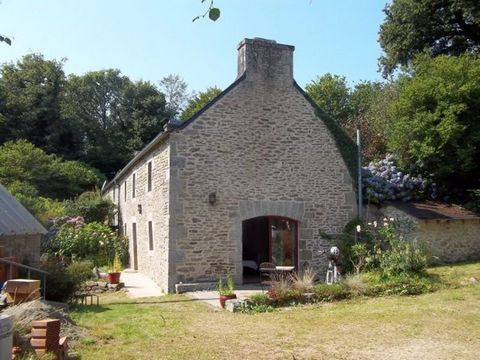 This traditional Breton longere has been divided into two separate residences; the main house and the attached gite. The property would work well either as one large property or, as it is now, a home and income property. The location is quiet and pea...