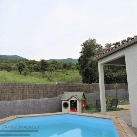 66740 VILLELONGUE DEL MONTS - BAISSE DE PRIX- VENTE- Agréable villa contemporaine en 3 faces de 102m2 habitable environ sur un terrain de 350 m2 envir
