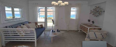Beautiful light-filled one bedroom spacious apartment with balcony overlooking the Aegean sea. Located on the first floor, just 100m. from the sandy beach of Molos on majestic Paros island, with direct access to the communal swimming pool. The apartm...
