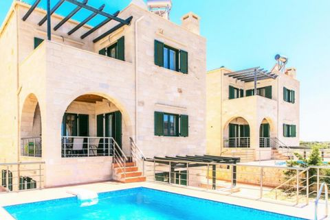 Three quality stone houses for sale in Chania Crete (2 available), each on a large private land plot of 1,300sqm – 2,295 sqm, with private swimming pool. They are located just outside Stavros village, only 3 mins drive to sandy Stavros beach. Each vi...