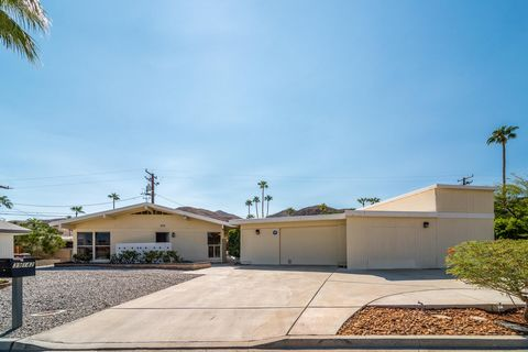 Hi up in the Cathedral City Cove sits this 1961 classic , a 3 BR/2 Bath, 1,560 sqft of living space, Pool and Spa home with a 2 car sized garage and a Motorhome garage to boot with sewer and water hookups. The home has been well maintained and was ow...