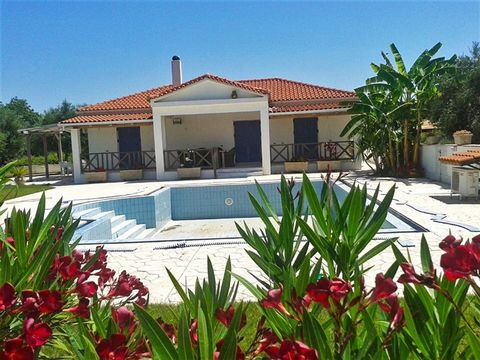 Zakynthos. Two villas of 94 sqm and 60 sqm with swimming pool, just 100 meters from the sea are for sale. The villas are located within a fenced and landscaped plot 1.242sqm, with large pool that serves both villas. For those who seeking an income fr...