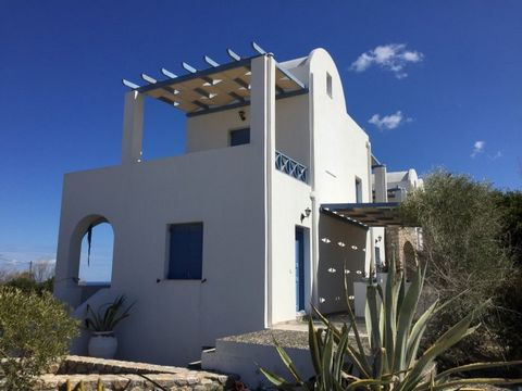 Semi-detached Villa for sale in Santorini at bargain price. The property enjoys a big plot, private swimming pool, garage, three floors with sea view. This is a small complex of semi detached villas with Santorini architecture style. It enjoys very n...