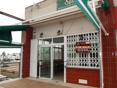 Freehold commercial unit for sale in the very popular Los Dolses centre close to Villa martin and La Zenia This spacious unit has been used as a restaurant and offers great outside terrace, inside has ample dining space and large bar area. There are ...