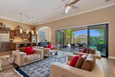 Welcome to your stunning turn-key estate in Stonegate at Mountain Bridge. Walk through your private courtyard to your flawless single level home with attached guest casita with separate entrance. Experience an open floor plan, upgraded gourmet kitche...