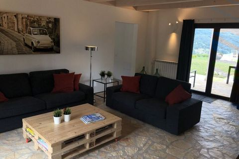 Located in Bagni di Lucca, this panoramic holiday home features 3 bedrooms for 8 people. Ideal for friends or families, guests can take a dip in the swimming pool and access free WiFi at this pet-friendly property. The town center is located 7 km awa...