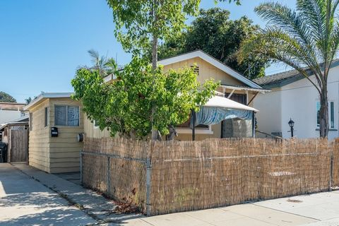 Calling all Investors! Opportunity knocks - 2 classic cottages on 1 lot in upper OB neighborhood! Front house is a 2/1 with small front yard; back unit is a 1/1 with covered deck, large paver & slab patio area, plus a large laundry/storage building i...