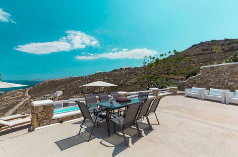 Set on a hill overlooking the Aegean Sea, this villa has breath-taking views at a peaceful location close to Mykonos main town (Chora) near several beaches. The property's traditional and modern decor offers contemporary luxury – five bedrooms on two...
