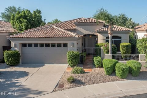Enjoy living in the middle of the happening. Within the Fairmont Scottsdale Princess and the famous TPC Golf Course, in the Crown Point gated community, this lovely single level home has been completely remodeled in 2019. Through the gate to the priv...