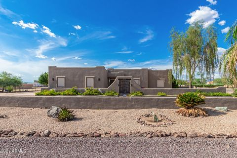 Corner Lot, NO HOA. Over an Acre! Storage Container included! 2 RV Gates! 2 car garage with cabinets! Santa Fe style home with circular drive & mountain views. Low-maintenance landscape & gated front courtyard. Bright interior boasts carpet in all th...