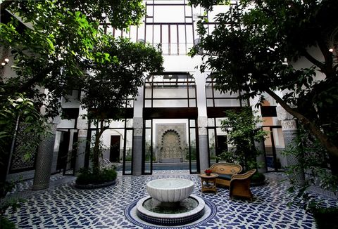 Misbah means lantern and this name has been given to this stunning riad in order to celebrate Fassi arts and crafts. It could have also been named 'Arab – Andalusian Gem of Granada', as a fountain from the world famous Alhambra palace stands in the m...