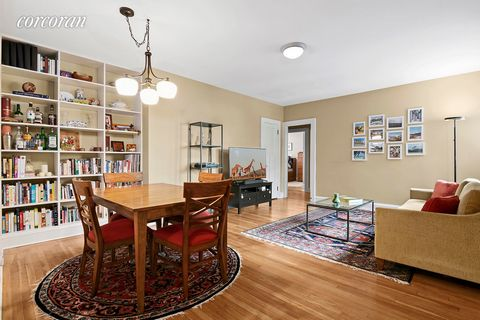This beautiful and quiet 2-bedroom prewar apartment adjacent to historic Forest Hills Gardens has its own deeded parking garage! The lovely home offers an entrance hall, hardwood floors and high ceilings with northeastern, southwestern and western ex...