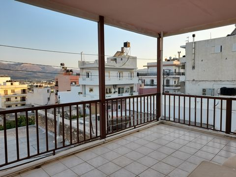 Sitia: A very nice 1st floor apartment with large balcony in Sitia. The apartment is 52m2 consisting an open living area with kitchen, two bedrooms and a bathroom. It has a large 14m2 balcony and very good access. All services are connected. Lastly, ...
