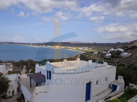NAXOS - ORKOS: FLOOR STUDIO of 35 sq.m. Unlimited views of the sea and the enchanting beach of Orkos which is known for surfers. Beautiful studio with built-in beds that can comfortably accommodate 5 people. Kitchenette and bathroom. Veranda about 10...