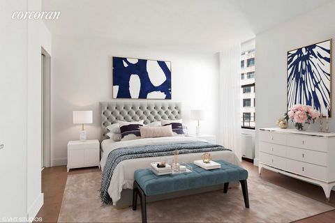 IMMEDIATE OCCUPANCY. Welcome to the Broad Exchange Building, where the timeless grandeur of New York's storied past meets spacious, sophisticated, and modern residences that are ideal for contemporary living. Residence 18K is a generous split two-bed...