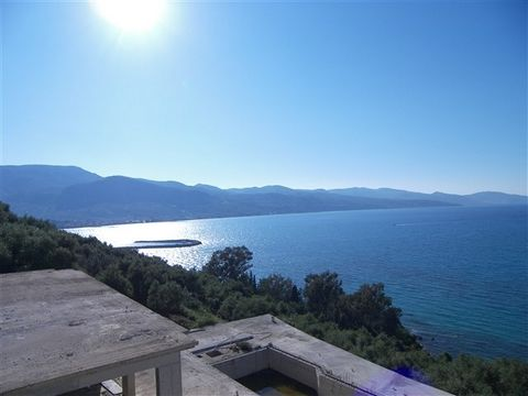 Zakynthos. 2 seaside villas of 400sqm are for sale. It's about an unfinished beachfront residential complex with panoramic views and access to the sea. It has two buildings 200 square meters each, total 400sqm building and swimming pool 80sqm, all ar...