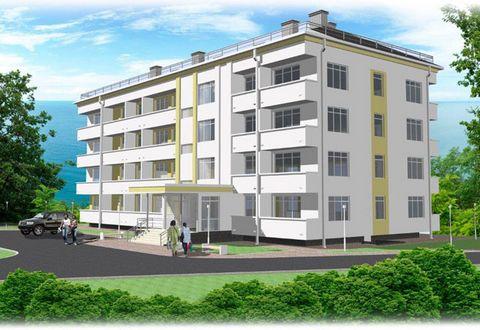 Апартаменты с видом на море в 4-х этажном корпусе
