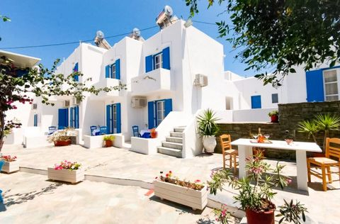 Hotel unit in Parikia 60 meters from the sea in the area of Livadia, consists of A) 2 star hotel with 22 rooms (35 beds) / space for breakfast, / kitchen, / special room with laundry dryer, outdoor space for breakfast, large indoor courtyard. (Sold a...