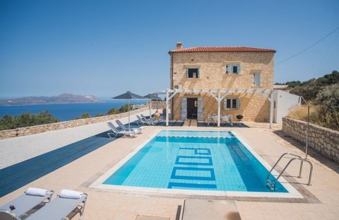 This is a Stone House With Beautiful Sea Views in Chania Crete with a total living space of 100 sqms on 2 levels. It has been built on a private plot of land of 2000 sqms, just above the popular village of Kokkino Chorio with spectacular views of the...
