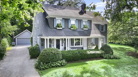 Enjoyed by the current owners for nearly 50 years, this solid five bedroom, three bath Shore Colonial on a coveted south of the village street now seeks new owners. The welcoming front porch captures the sea breeze off nearby Greenwich Cove. The leve...