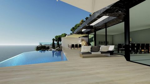New project of the latest design Villa with excellent qualities and with incredible views of the Sea, Peñon Rock and the bay of Calpe. All for Domotics, Elevator, Design garden, infinity pool surrounded by terrace, with BBQ area and Chillout area. et...