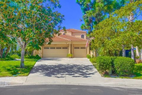 SENTERRA across from Fairbanks Ranch CC! A Danny Hampel Reconstruction & Expansion in 2007. Open Great Room Floorplan Beautifully Appointed with High End Finishes will appeal to All Difficult to Please Clients! A Tranquil Private Setting W/Pool, Outd...