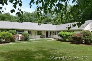 Lovely expansive one level living in sophisticated residence on meandering lane close to town. Generously sized rooms with updated baths and St. Charles kitchen. Lower level au pair with bath. Large deck and in-ground pool overlooking bucolic woodlan...