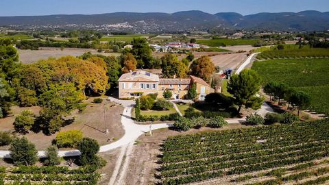 18th century bastide with 13.5 ha vineyard in the Luberon. This magnificent 18th century bastide is ideally located in the commune of Apt, a middle-sized town in the heart of the North Luberon. In a setting of the utmost calm and close to all ameniti...