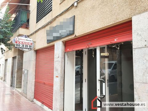 Shopping area in the center of San Vicente. It has two storefronts with blind, rising sun orientation with good luminosity. Entrance to premises with adapted ramp. Large open space separated by partition, first part with false plaster ceiling and imp...