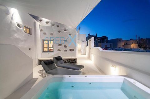 This beautiful villa is located where endless Aegean blue sea meets the unique and wild beauty created by the volcano of Santorini. It is a typical Aegean architecture located in the center of the traditional Emporio village. It has been restored wit...