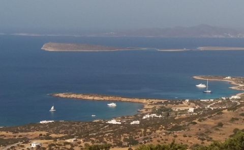 PAROS, Agios Ioannis Tripitis. For sale a parcel of 42000 sq.m., within city plan, amphitheatrical, build 803 sq.m., panoramic mountain - sea view. Possibility of moving to and from the plot by two roads. An area with exellent view (around the islan...