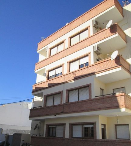 A nice well maintained first floor apartment (with lift) for sale in Albox.The apartment has a brand new kitchen which also has a larder cupboard and leads out to a large patio area with washing machine and laundry area.The apartment has a spacious c...