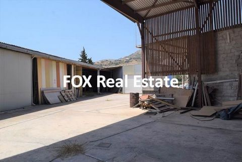 SYROS, Ermoupoli, land of 1,694sqm, with ground storehouses of 5.5m high and open sheds with a total area of appr. 600sqm with office space, year built 1991 (building permit). Ideal for investment and business/tourism enterprises.Property Code: 2012Ο...